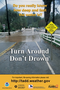 Beware of the dangers of flooding!