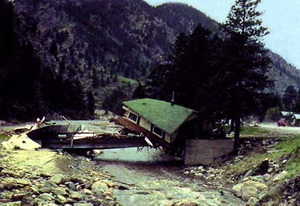 The Big Thompson Flood in 1976 claimed the lives of 144 Coloradoans and serves to remind us of the dangers of floods. (USGS)