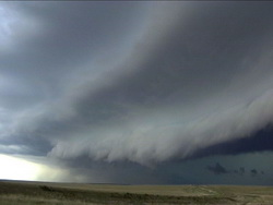 A storm front on the Colorado plains.
