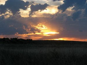 After the storm - a beauful sunset on the plains.