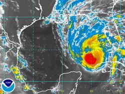 Satellite image of Hurrican Gustav as of 2:00am Sunday.