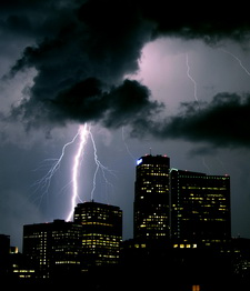 Lightning is always a danger in Colorado.