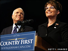 John McCain and Sarah Palin await a determination on whether or not the RNC will proceed as scheduled.