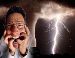 Scared of the weather?  Maybe you have a weather phobia!