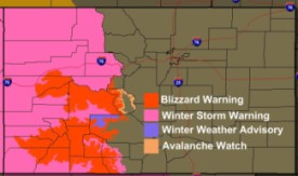 Active weather watches and warnings on Christmas Day.