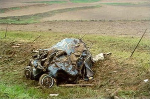 This vehicle was destroyed by a tornado - if you were in it, would you have survived?