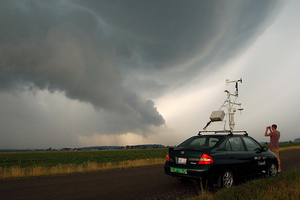 VORTEX2 scientists are on the chase for tornadoes today in west Texas.