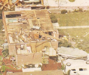 On June 3, 1981 a tornado struck Thornton in what is the worst twister to have struck the Denver metro area. Despite this, Thornton does not have any sort of emergency alert system to warn citizens of tornadoes or other civil disasters.  Image courtesy the City of Thornton archives.