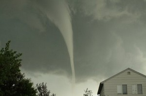 The tornado that struck Aurora, Colorado has been rated an EF1 with 100 mph winds by the National Weather Service.  Image courtesy Sean Strachan. Follow the link below to go to Examiner.com for more images.