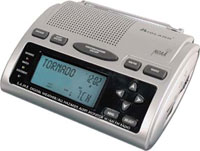 This weather radio from Midland (model WR-300) includes SAME area encoding and an AM / FM radio.