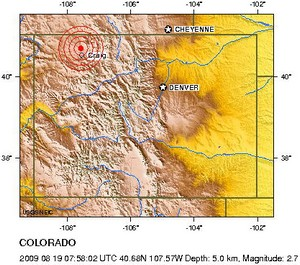 Colorado earthquake map