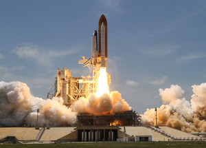The Space Shuttle Atlantis launched yesterday bound for the International Space Station.  This weekend affords a chance to see the pair above for the last time. (NASA)