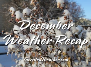 December 2011 will go into the books as a cold and snowy month. (ThorntonWeather.com)