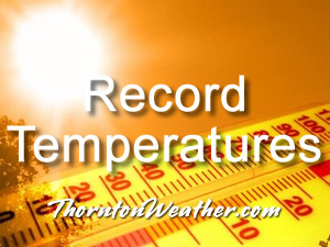 Record setting high temperatures in Thornton.