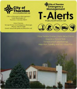 City of Thornton Emergency Management T-Alerts