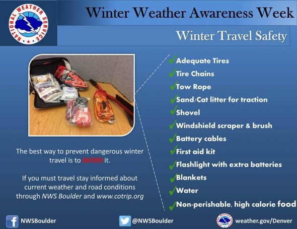 Winter Weather Awareness Week - Winter Travel Safety. (National Weather Service)