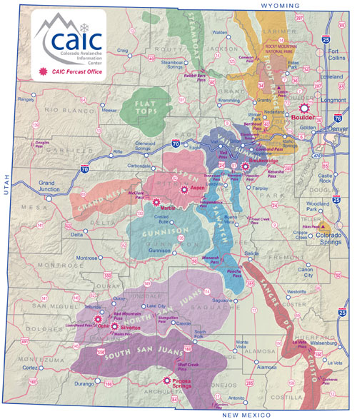 Colorado Avalanche Zone Map