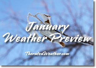 Denver's January weather and climatology preview for 2013.